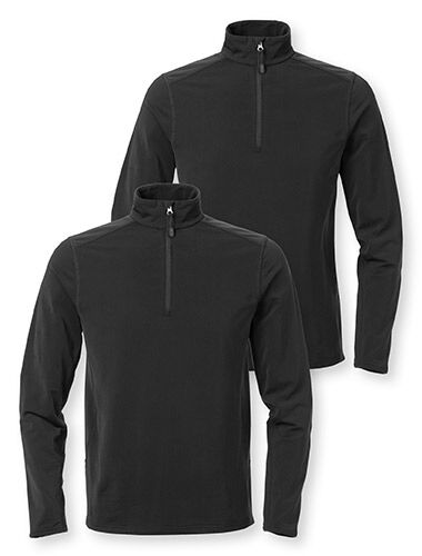 sweatshirt halve rits superstretch sportief lichtgewicht