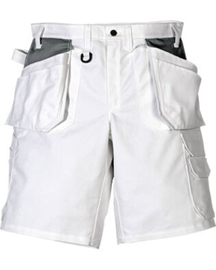 Cotton shorts 257 BM in white for painters and bricklayers