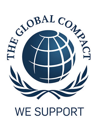 Kansas støtter: logo global compact united nations