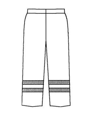 Montera två rader relflextejp runt benen