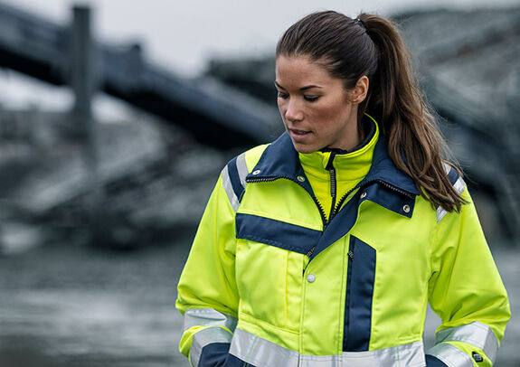Fristads Kansas high visibility jacket in PLU