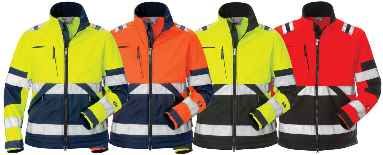 High vis soft shell jacket woman 4183 WYH