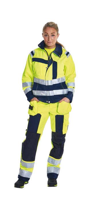 Kansas sikkerhedstøj til damer - her arbejdsbukser og arbejdsjakke klassificeret til klasse 3