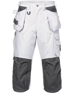 Cotton pirate trousers 425 BM in white for painters and bricklayers