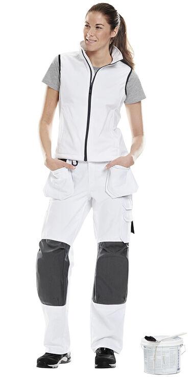werkkleding dames schilder wit katoen