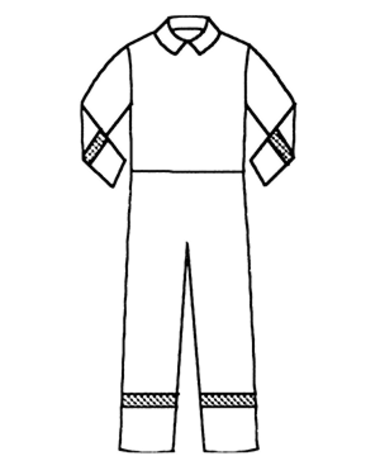 Märk både armar och ben med reflex