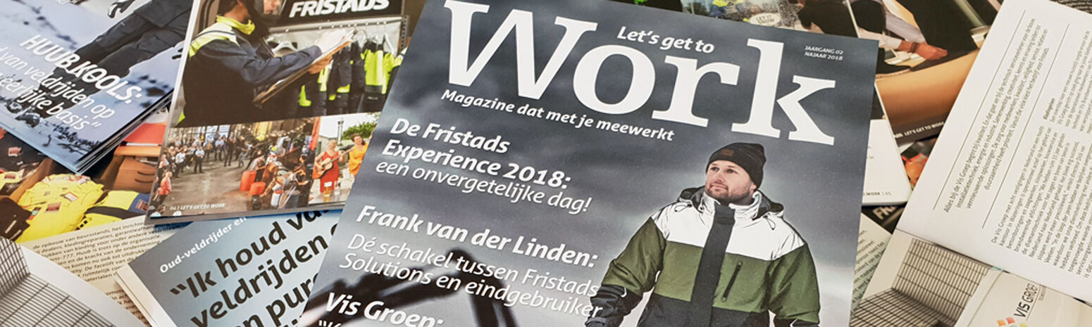 Reflecterend jack op magazine cover