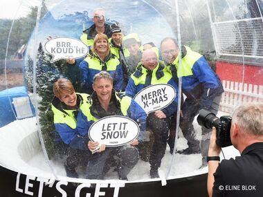 Team Fristads snowglobe foto