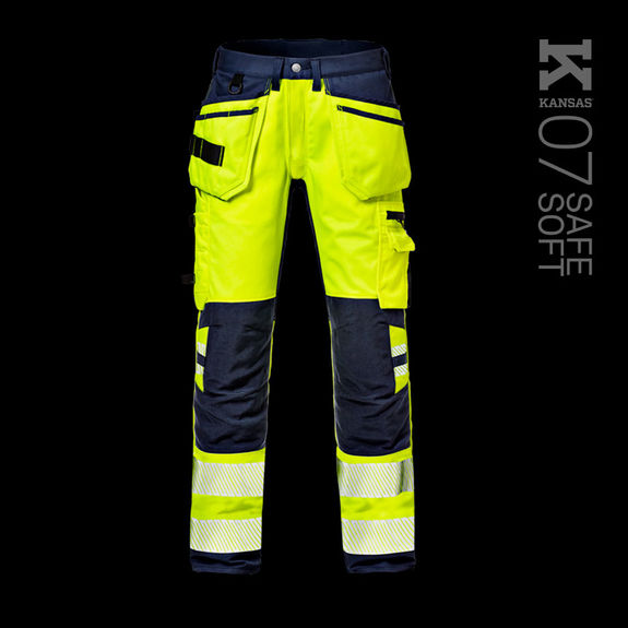 Warnschutz Handwerker Stretch-Hose KL. 2