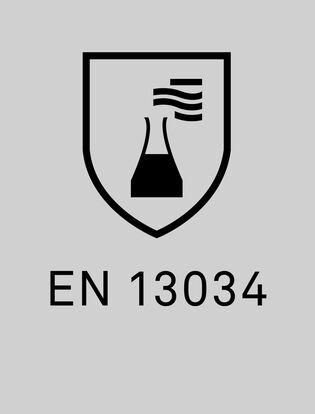 EN 13034 testats för avvisning av kemiskt stänk
