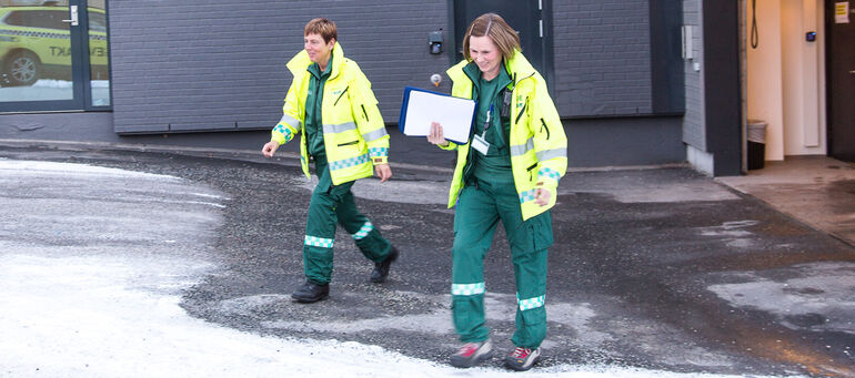 The new uniform for paramedics and emergency rooms personell from Wenaas Workwear AS