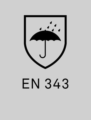 EN 343 cerifiering av plagg som skyddar mot väta