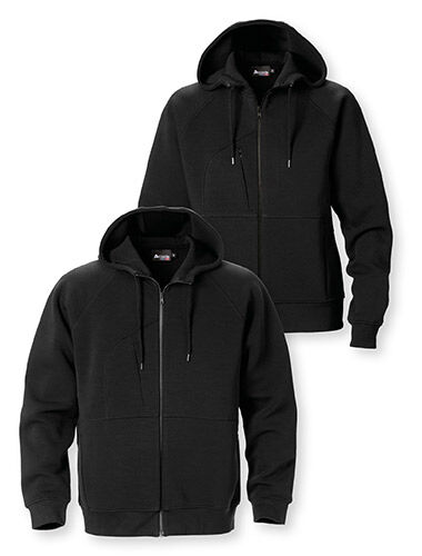 hoodie fullzip sweatshirt two front pockets