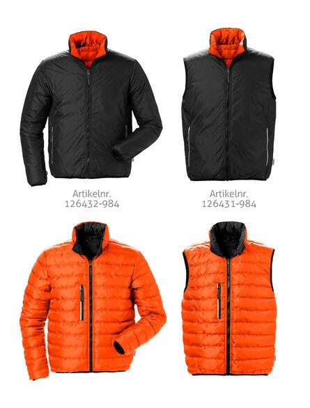 3 in 1 zip-in jack zwart oranje