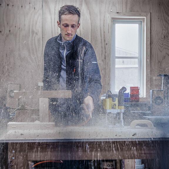 Schreiner Jesper in Kansas Arbeitskleidung
