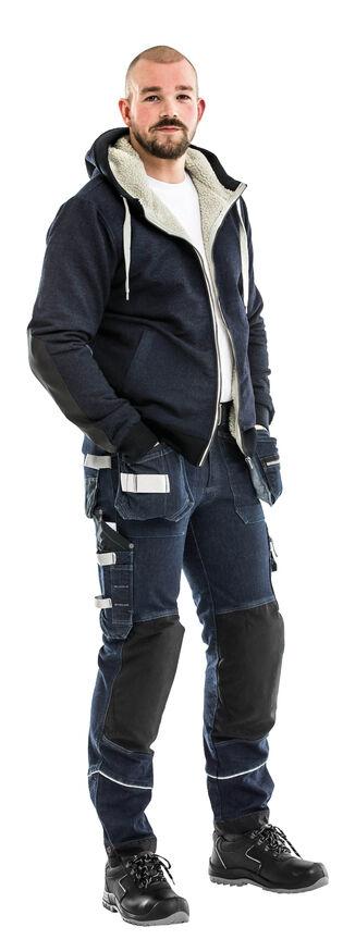 Image de modèle - Veste sweatshirt 7513 KN - Pantalon jogger d'artisan 2086 CCK