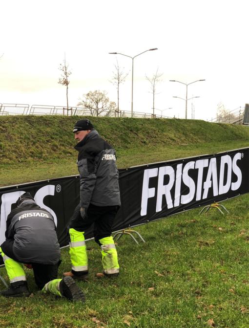 Parcours bouwers op de GP Adrie van der Poel in Hoogerheide
