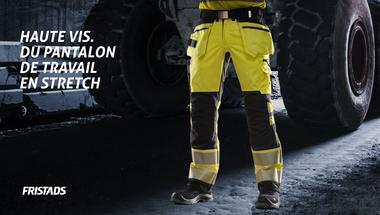 Pantalon d'artisan stretch haute visibilité classe 2 2707 PLU