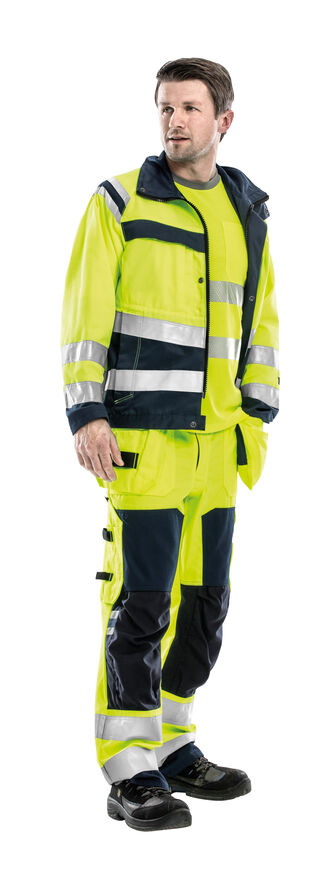 Fristads werkkleding hoge zichtbaarheid weg spoorweg