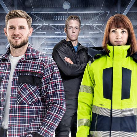 Mannen en vrouwen in werkkleding