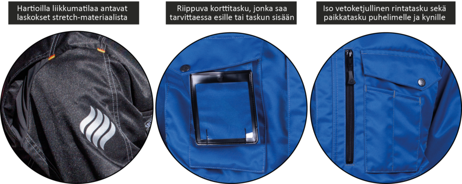 Flex outdoor takkien yksityiskohdat Leijona työvatteet