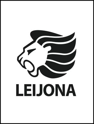 Leijona logo valkoinen