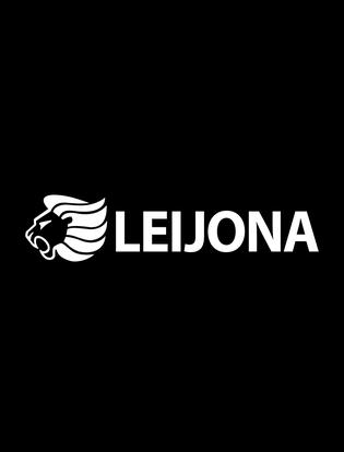 Leijona logo musta