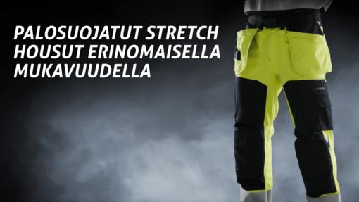 Fristads palosuojatut rakentajan stretch housut