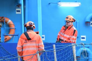 Vg-shipping työntekijät laivassa