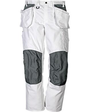 Pantalon en coton 258 BM en blanc, pour femmes et hommes, peintres et macons