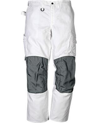 Pantalon en coton 268 BM en blanc pour peintres et macons