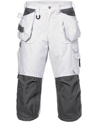 Pantalon 3/4 en coton 425 BM en blanc, pour peintres et macons