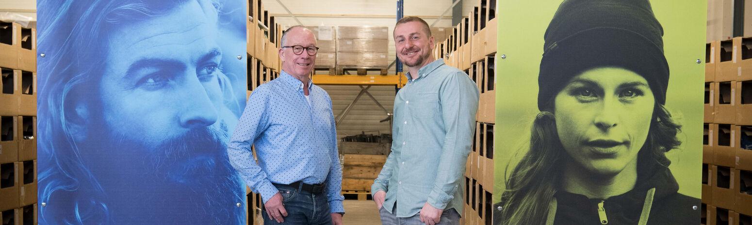 Fristads solutions Jan en Erik in het Fristads Warehouse in Breda