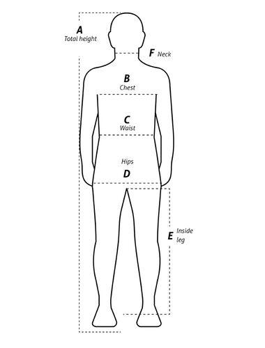 Så här mäter du Fristads plagg